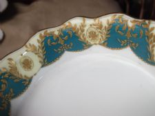 ANTIQUE RARE SMALL GILDED DISH ROYAL DOULTON ROBERT ALLEN RA2686 c86 TLC 4.25""